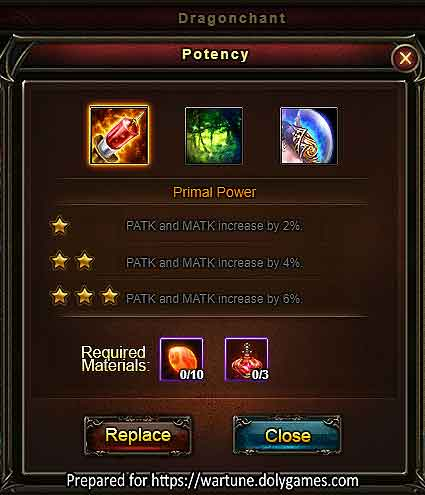 Dragonchant Potency Guide - Wartune 7.8.2 -2
