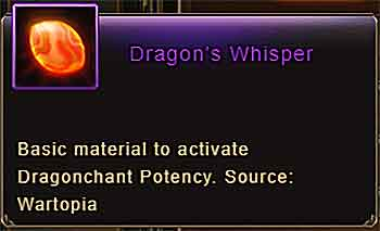 Dragon's Whisper item info Wartune