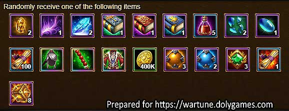 Lucky Exchange with Willpower Books in Wartune
