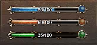DUNGEON ROULETTE Guide progress bars
