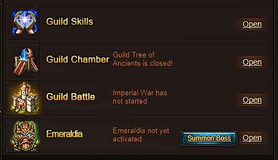 EMERALDIA Guild Activity Guide - Wartune Patch 8.0