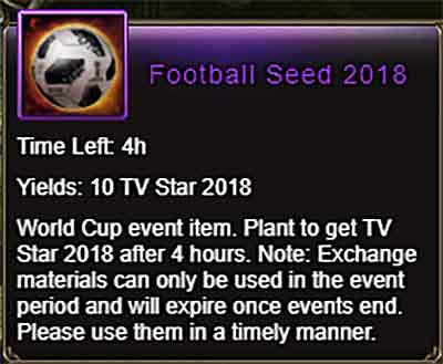 Football Seed 2018 item Wartune