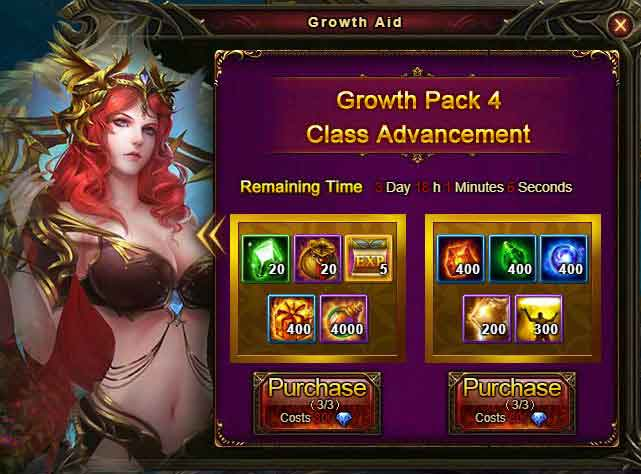 Growth Aid - Wartune Patch 8.0