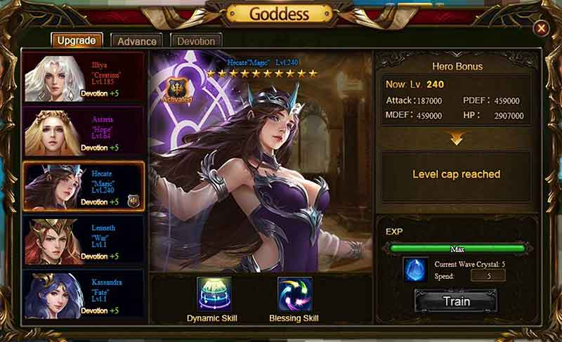 Wartune Patch 8.1 Goddesses guide 1