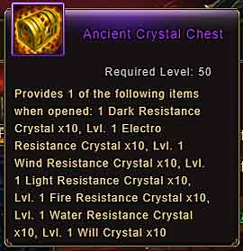 Wartune Patch 8.3 Ancient Crystal Chest