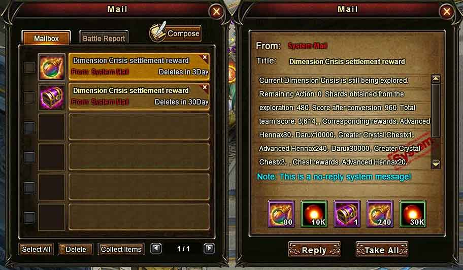 Wartune Patch 8.3 New Game Hall [Dev Guide] Dimension Crisis rewards 4