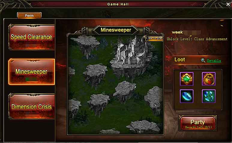 Wartune Patch 8.3 New Game Hall [Dev Guide] Minesweeper