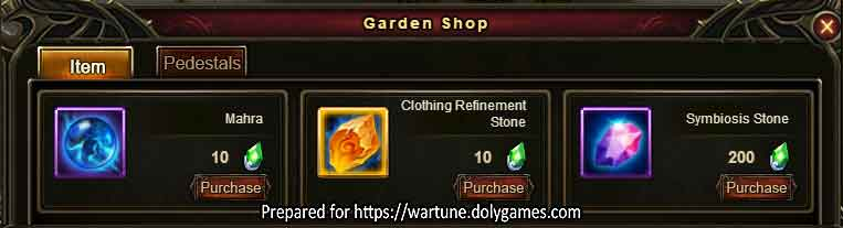 Sky Garden Shop page 2 Wartune Patch 8.5